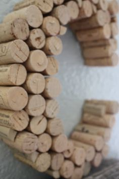 make your own wine cork letter