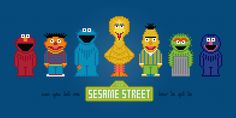 Sesame Street - PixelPower - Amazing Cross-Stitch Patterns