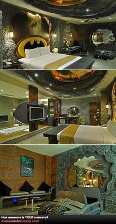 Bens style of interior design, I told him sure we can have a bedroom like this....when I am no longer alive!