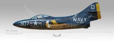 "F9F-2 Panther, VF-123 ""Blue Racers"", 1954"