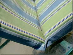 Tutorial for recovering outdoor furniture cushions