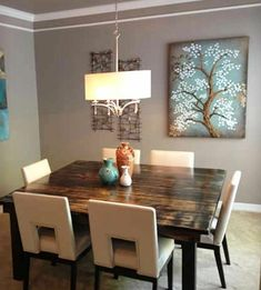 square wooden table for dining room