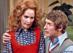"Frank and Betty Spencer, delightfully airheaded couple on a BBC Britcom in the 1970;s, called ""Some Mothers Do 'Ave 'em""."