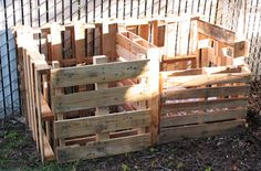 homemade compost bins using pallets.    Really would like to compost this coming year.