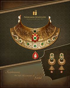 Rephrasing the age old concept of gold with this beautiful Gold Set and Drop Earring!! Buy it at Nikkamal Jewellers, Ludhiana & Jalandhar Showrooms