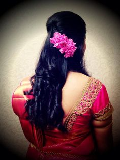 Indian bride's reception hairstyle updo