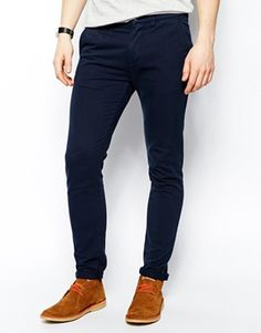 ASOS Skinny Chinos In Heavyweight Fabric