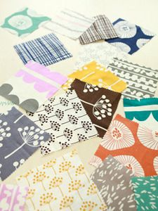 Lotta Jansdotter fabric would make the best fabric to wrap gifts with