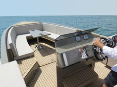 De Antonio Yacht Tender - Design by Ubica-id Yacht Design, Boat Design, Interior Do Barco, Yacht Interior, Sport Yacht, Yacht Boat, Boat Console, Electric Boat, Wooden Boat Building