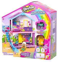 License 2 Play Inc Shopkins Happy Places Rainbow Beach House Playset Tech Deck, Shopkins Rainbow, Shopkins Gifts, Shopkins Playsets, Toys For Girls, Kids Toys, Playmobil, Games
