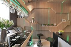 Geometrix Design have sent us images of a kitchen they have designed for a family in Moscow, Russia.
