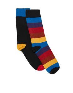 Σετ με 2 ζεύγη κάλτσες ψηλές ριγέ - Κάλτσες - Αξεσουάρ - Ανδρικά - PULL&BEAR Ελλάδα