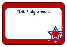 Celebrate Independence Day with this printable DIY Americana label template. Great for use as July party name tags, food labels, and more. Includes colored border with red, white, and blue stars in the corner. Name Tag Templates, Label Templates, Templates Free, 4th Of July Party, Fourth Of July, Cliparts Free, Coloring Books, Coloring Pages, Decor Inspiration