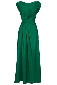 Green Pleat Maxi Dress- so stylish!