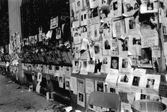Ground Zero was blocked off from 14 to Canal ... When we came out from searching ... This wall of photos ...was everywhere...