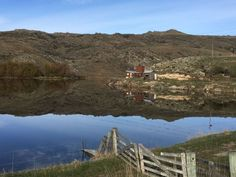 A beautiful calm day as we cycle past the Oturehua curling dam