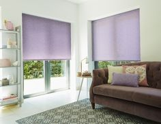 Sugary sweet and serious stylish - two ways to describe our Milford Amethyst Roller blind. We love. The contemporary shade is a great way to add a girlie twist to a living room, or spice up a bedroom.