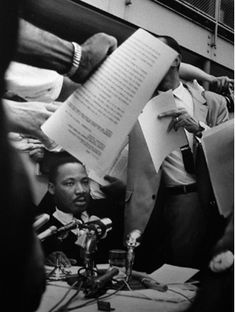 Ernst Haas  Austrian, 1921–1986 Martin Luther King, Jr., at Press Conference, Birmingham, Alabama, May 1963, printed later Gelatin silver print Gift of the Ernst Haas Studio, 1996.138