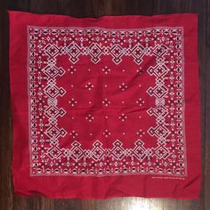 Vintage USA Made Cotton Red Bandana RN14193 | eBay