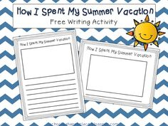 School Is a Happy Place: How I Spent My Summer Vacation: A Mentor Back to School Text and a FREE Writing Activity