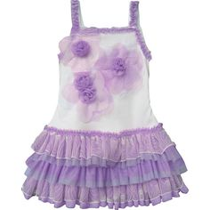 Isobella and Chloe Floral Fusion Purple Tutu Dress