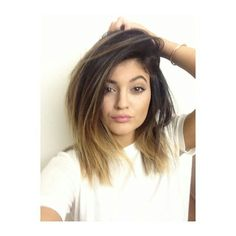Kylie Jenner...short ombre hair! I could pull this off.