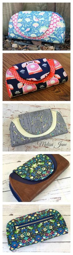 Here is the very lovely Cleo Everyday Wallet by Andrie Designs. The PDF downloadable sewing pattern will make you a classic and curvy wallet that has everything you need to carry all your cards, notes, coins and more on a daily basis. It has 12 card slots, two notes pockets, a large centre compartment perfect for your mobile phone, an exterior zippered coin pocket, and a simple magnetic snap closure.