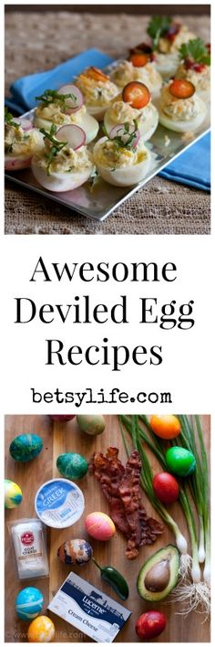 Easter is right around the corner. All those colored eggs require a recipe! Here are 3 awesome deviled egg recipes. Goat Cheese and herb, jalapeño popper, and bacon with avocado and Sriracha. Take your Easter brunch appetizer game up a notch this year