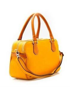 Ghibli Genuine Leather Tri-Zip Shoulder Bag - Shoulder Bags - Bags at Viomart.com