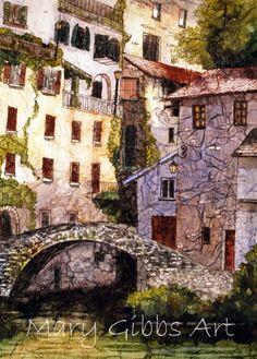 Mary Gibbs Art ~ Bridge On Lake Como