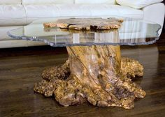 Burl wood table