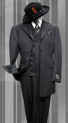 Pleated Pants Suit - Modern Fit Suits for Mens Sharp Dressed Man, Well Dressed Men, Trajes Zoot, Zoot Suits, Men's Suits, Don Corleone, Gangster Wedding, Gangster Style, Gq Magazine