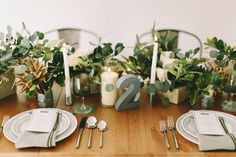 Neutral color palette with greens- love this look // see more: http://theeld.com/1yLN2Ug