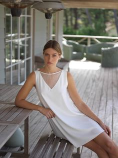 White Dress, Collection, Dresses, Fashion, Dressed In White, Civil Wedding, Dress, Woman Clothing, Dress Ideas