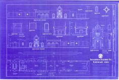1906 southern pacific railroad depot long beach california southern pacific railroad depot glendale california handmade blueprint 24 x 36 18 scale by depotblueprints on etsy malvernweather Images