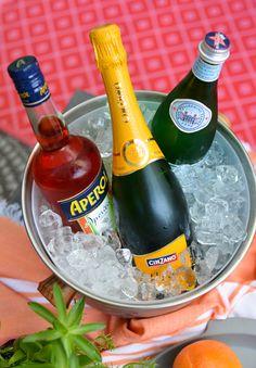 Easy cocktail recipe: The Aperol Spritz. #ad @aperolusa #spritzbreak