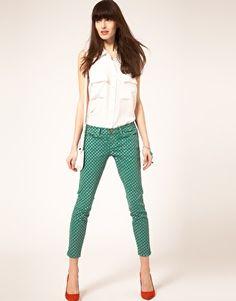 Elliott Jeans with Polka Dots.