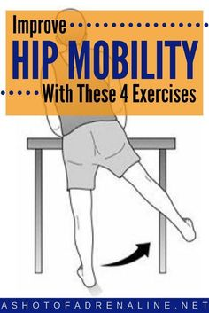 Ready to improve hip flexibility? Decreased hip mobility can be a huge causing f… Ready to improve hip flexibility? Hip Mobility Exercises, Knee Exercises, Back Pain Exercises, Training Exercises, Hip Strengthening Exercises, Aerobic Exercises, Stretching Exercises, Hip Arthritis Exercises, Hip Stretches