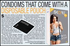 Skore Condoms, a product of TTK has continued to make the use of Condoms more safer for its customers.   Recently, Skore has come up with the 'Disposable Pouch' that helps its customers savor every moment in the bedroom without showing any concern about the after use of the condoms.  To know more visit www dot skorecondoms dot com