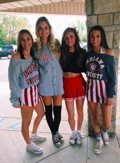 Zeta Tau Alpha at Indiana University College Football Games, College Game Days, Football Outfits, College Life, College Outfits, Outfits For Teens, Cute Outfits, School Outfits, Wedding Photographie