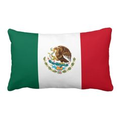 Pillow with flag of Mexico