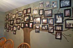 Ett vackert släktträd på väggen. Vad tycker du? Foto: Pinterest/sowderingabout.com