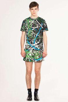 The Christopher Kane 2012 Spring Line Boasts Glossy Metallics & Slim Fits #coachella #mensfashion trendhunter.com