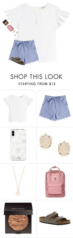 """""""•easter dinner with fam•"""" by mackenzielacy814 on Polyvore featuring Kate Spade, Kendra Scott, Rebecca Minkoff, Laura Mercier and Birkenstock"""