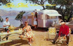 "Silvery Streak Travel Trailer ""The Finest Trailer Built"" #vintage #travel #trailer"