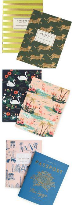 pocket paper notebooks- love the passport notebook for travel memories!