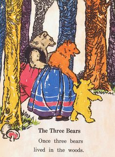 The Three Bears, from I Know a Story, a Wonder-Story Book, copyright 1938. Illustrated by Florence and Margaret Hoopes.