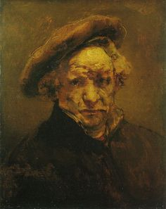 Best Rembrandt self portrait .  - musee granet France
