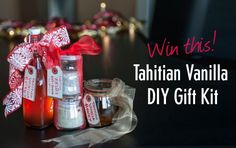 GIVEAWAY: Free Tahitian Vanilla DIY Gift Kit! Enter to win over $50 in FREE Tahitian vanilla PLUS everything you need to make your very own holiday gifts! (Link on our blog) All Gifts, Holiday Gifts, Giveaway, Diys, Vanilla, Alcohol, Crafty, Make It Yourself, Blog