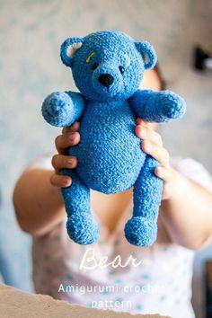 Crochet Teddy Bear Pattern, Crochet Mouse, Crochet Bunny, Crochet Patterns Amigurumi, Cute Crochet, Handmade Ideas, Handmade Toys, Handmade Crafts, Happy Birthday Gifts